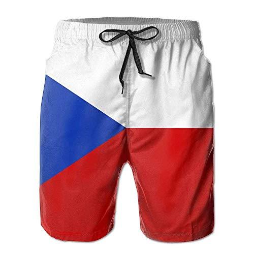 khgkhgfkgfk Czech Flag Mens Slim Fit Quick Dry Short Swim Trunks X-Large Chaps-mens Tie