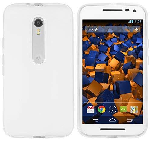 mumbi Schutzhülle Motorola Moto G (3. Generation) Hülle transparent weiss