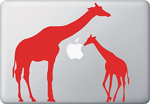 VinMea Mom and Baby Giraffe - MacBook or Laptop Decal (9.5