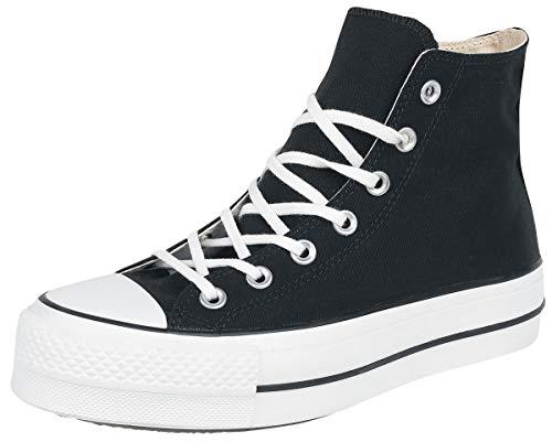 Converse Chuck Taylor Ctas Lift Hi Scarpe Da Ginnastica Alte Donna, Nero (Black/White/White), 36 EU