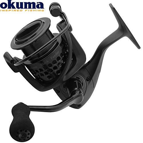 Okuma Custom Black Feeder CLXF-40 FD - Feederrolle zum Feedern auf Friedfische, Angelrolle zum Feederangeln, Stationärrolle