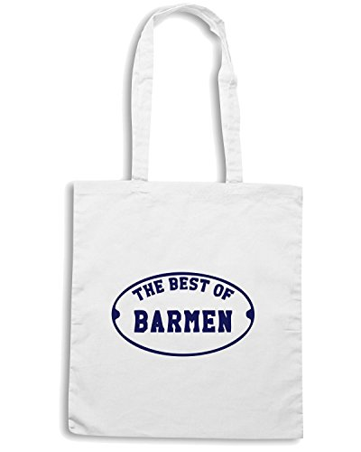 T-Shirtshock - Borsa Shopping BEER0287 The-Best-of-Barmen-Magliette Bianco