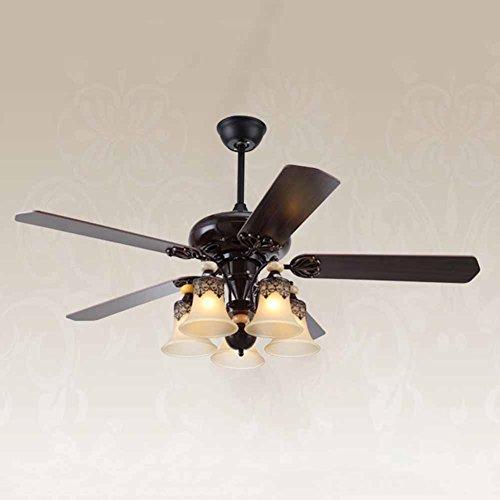 ZNND Deckenleuchte, American Retro Mute Starker Wind Fan Kronleuchter, dekoratives Licht für das Wohnzimmer/Esszimmer / Schlafzimmer/Studie, etc. - Vertiefte Fan Licht