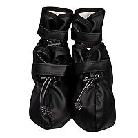 Donad Waterproof Pet Shoes Reflective Strap Anti Slip Rain Boots Adjustable Socks Sneaker Paw Protector Pet Supplies