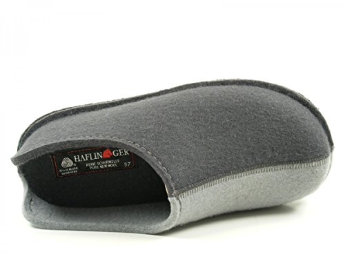 Haflinger Flai-smily-duo 311020 Pantofole Unisex Per Adulti Grigie