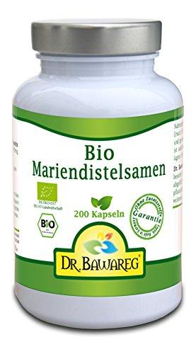 BIO-Mariendistelsamen - 200 Vegi-Kapseln - ohne Zusatzstoffe - Dr. Bawareg -