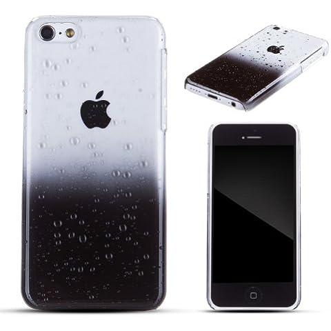 Zooky negro plástico GOTA DE AGUA funda / carcasa / cover para Apple iPhone 5C