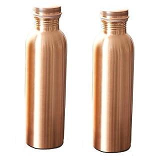 Kupfer-Wasserflasche für ayurvedische Gesundheit (fugenfrei, auslaufsicher) Sale for - 2 Pieces