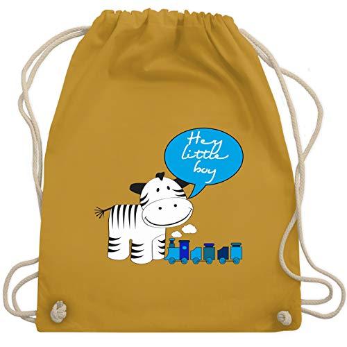 Tiermotive Kind - Hey little boy Zebra Zug - Unisize - Senfgelb - WM110 - Turnbeutel & Gym Bag -