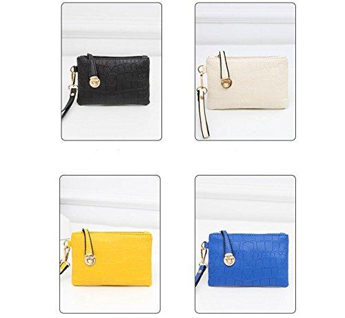 X&L Frauen's drei-Satz primäre sekundäre Pack Umhängetaschen PU Handtasche Tasche milky white