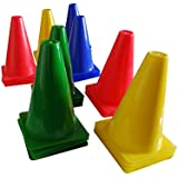 Roxan Marker Cone Multi Color Set Of 12/Saucer Marker Cone For Marking Ground/Football Marker Cone/Agility Vinyl Marker Cone Multi-Color/Plastic Marker Cone For Football Training