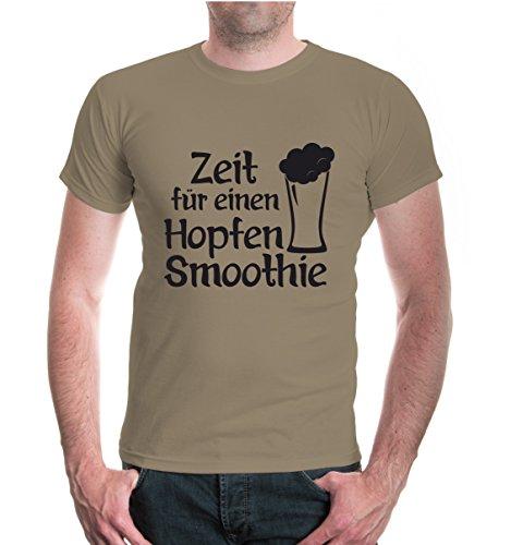 buXsbaum® T-Shirt Zeit für ein Hopfen Smoothie Khaki-Black