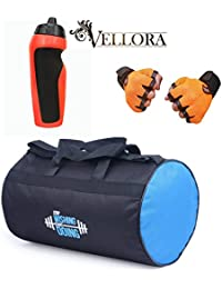 VELLORA Polyester Long Lasting Material, Duffel Gym Bag Blue With Penguin Sport Sipper, Gym Sipper Water Bottle... - B07F2Q329C