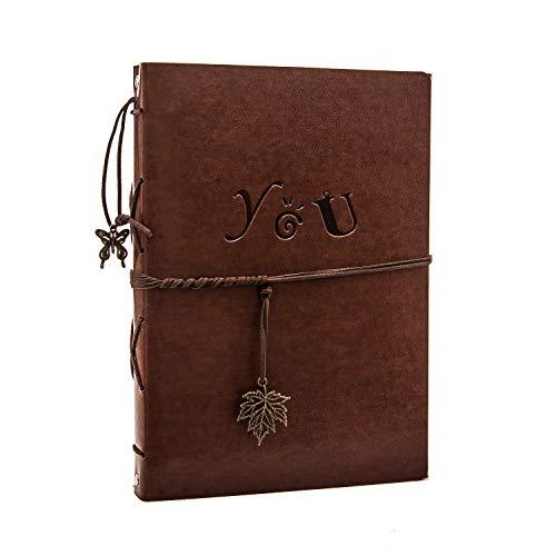 Yaohu scrapbook album foto, vintage pagine nere adesivaalbum ricordi libro degli ospiti regalo per uomini donne coppia di regali di compleanno di san valentino per lei, padre mamma, you