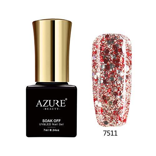 Azure Beauty UV Nagellack Nail Gel Polish Glitter 7ml-7511