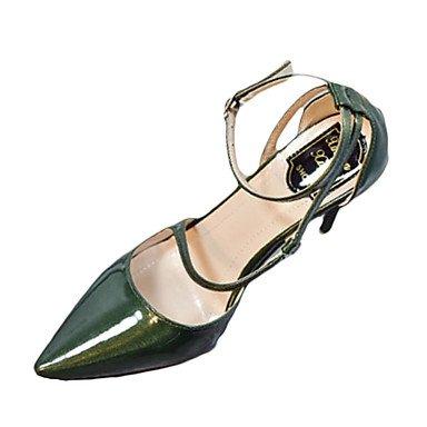Talloni delle donne cinturino alla caviglia Primavera pelle verniciata con fibbia tacco a spillo casual US6 / EU36 / UK4 / CN36