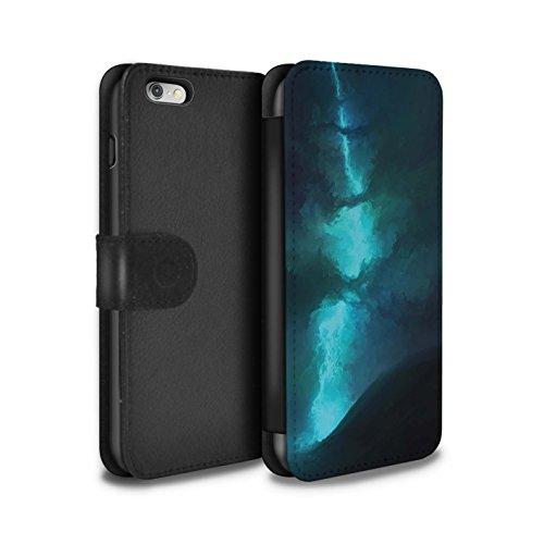 Offiziell Chris Cold PU-Leder Hülle/Case/Tasche/Cover für Apple iPhone 6S+/Plus / Planet/Mond Muster / Fremden Welt Kosmos Kollektion Elektro-Sturm