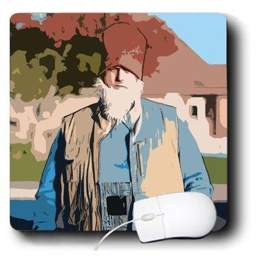 Männer Kostüm Benutzerdefinierte - 3drose LLC 8x 8x 0,25A Dutch Kostüm auf ein Mann mit einem weißen Bart und hat Mauspad (MP 80199_ 1)