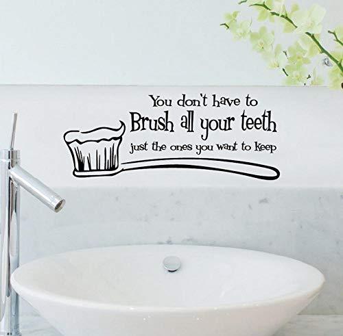 Wandaufkleber Putzen Sie Ihre Zähne Wandtattoo Funny Cartoon Art Wall Decal Für Badezimmer Waschraum Home Decor
