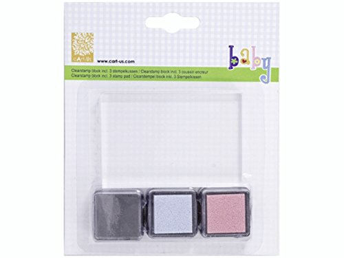 cart-us-clear-acrylic-block-3-ink-pads-blue-pink-black-for-rubber-stamping