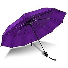 Paraguas Plegables Resistente al Viento Antiviento Paraguas Compacto Apertura y Cierre Automaticos Impermeable para Hombres/