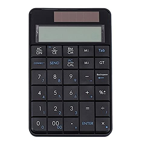 Zhhlinyuan 2-In-1 Wireless USB 2.4G Numeric Keypad 29 keys Portable Keypad Calculator pour Office Home Business