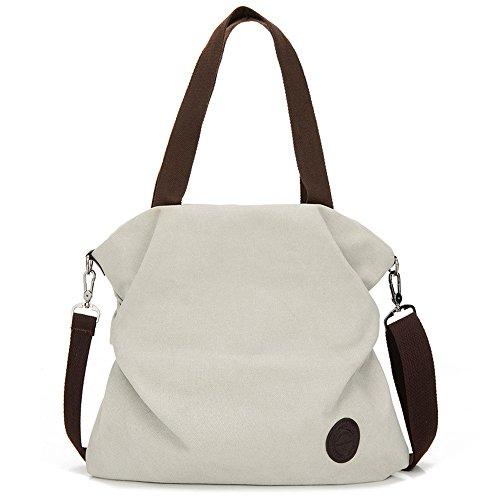 Muium 5 colori borsa donna, zaino donna borsa tracolla borsetta multifunzione sacchetto grande borse a spalla per lavoro shopping viaggio nera,blu,grigio,beige,caffè