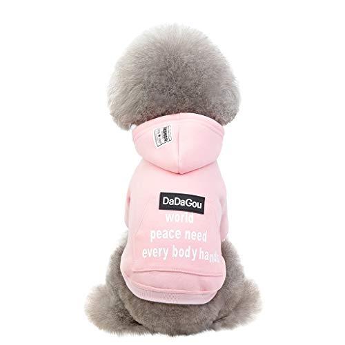Hundekleidung, Hawkimin Hundemantel Hundejacke Hundepullover Warm Winter Kapuzen-Sweatshirt Haustier Kleidung -