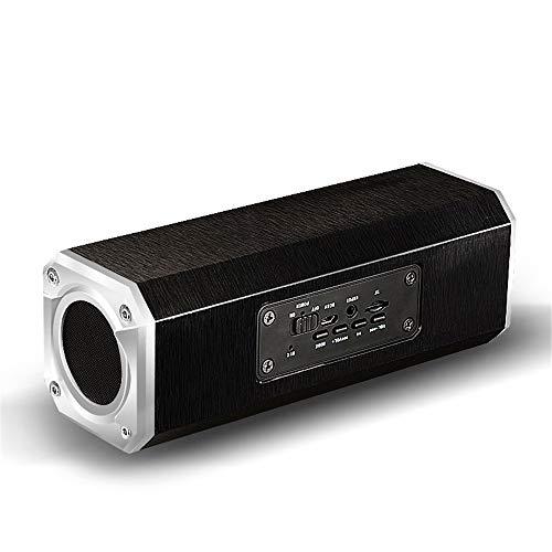 Bluetooth Lautsprecher aus Holz zu Hause Wireless Bluetooth Lautsprecher Mobiltelefon tragbare Basskarte Sound,schwarz