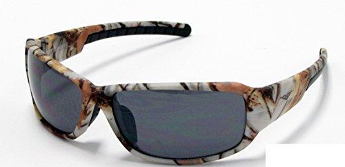 VertX Herren Sonnenbrille Schwarz White Snow Camo - Smoke Lens