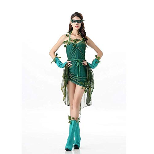 Erwachsene Mädchen Kleid Green Elf Tree Demon Kostüm Weibliche Halloween Kleidung Party Sexy Kleidung Bühnenkostüm ()