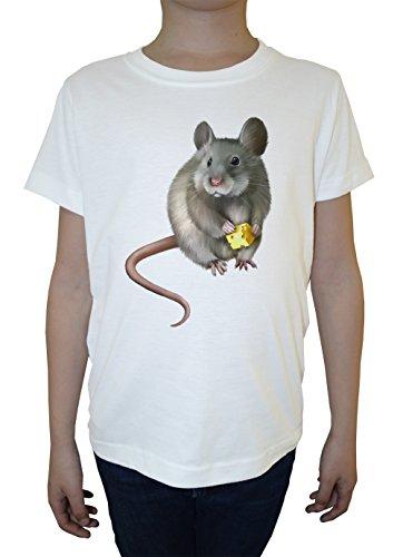 rata-del-raton-blanco-algodon-nino-ninos-camiseta-manga-corta-cuello-redondo-mangas-white-boys-kids-