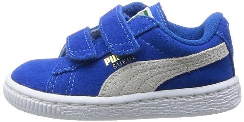 Puma - Scarpe primi passi Suede 2 Straps Kids, Unisex - bambino, Blu (Blau  - Bleu (Snorkel Blue/White)), 20. IMMAGINI. Click sull'immagine per  ingrandirla