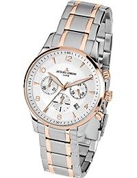 Jacques Lemans Herren-Armbanduhr XL London Chronograph Quarz Edelstahl 1-1654P