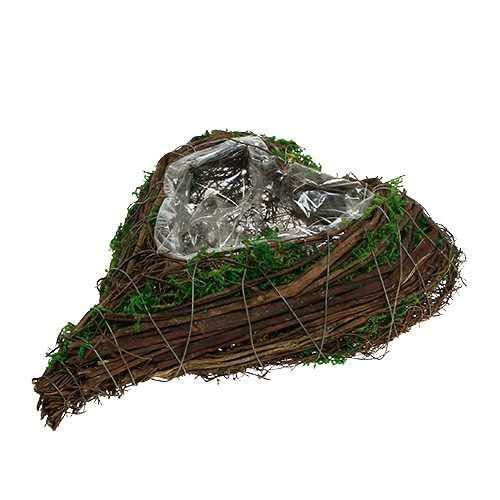 Grabschmuck Pflanzschale Herz aus Rebenholz Grabdekoration Pflanzherz Grabherz zum bepflanzen Trauerschmuck Trauerdeko