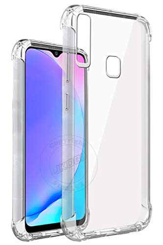 Jkobi Rubber Back Cover for Vivo Y15 / Y17 / Y12 - Transparent