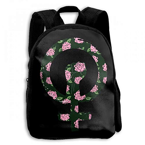 ADGBag Feminist Feminism Peony Student School Backpacks Canvas Book Bag Casual Daypack Travel For Children Mochila para niños