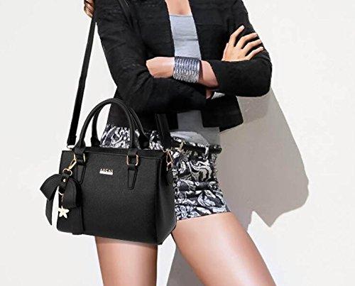 Damen Handtaschen PU Leder Messenger Bag Handtaschen Einfache Mode Handtasche Schultertasche Rose