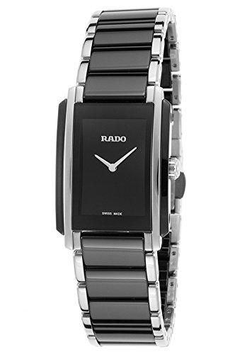 Rado R20613152Femme Integral Noir en céramique et Acier Inoxydable Cadran Noir Montre