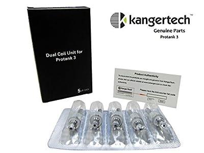Original Kanger 1.8 ohm Dual Coil Kangertech. Kompatibel mit Aerotank, aerotank Mini, aerotank Mega, Protank 3, Mini protank 3, EVOD 2, T3D und evod Glas. DNC REDUZIERT von DNC Discount - Kangertech