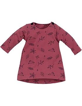 Pinokio - Colette- Kleid - Baby, Mädchen - Dunkelrosa mit süßen Motiven, 100% Baumwolle