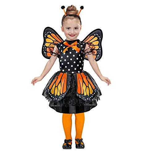 Widmann 07595 Kinderkostüm, Mädchen, Orange/Schwarz
