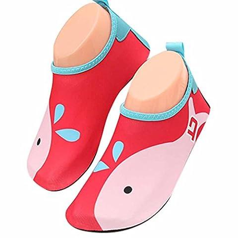 GudeHome Lovely Kid's Cartoon Barefoot Water Skin Shoes Aqua Socks Swimming Diving Beach Yoga Shoes,