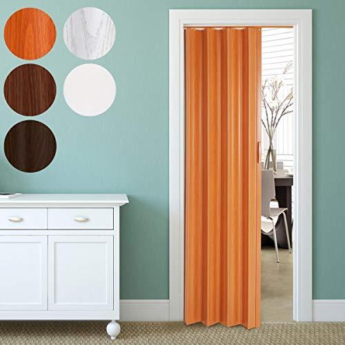 Falttür alternative Raumtrennung | 84x202cm, einwandig, in Eiche-Grau, Eiche-Dunkel, Kirsche, Nussbaum oder Weiß | Schiebetür, Faltwand, Nischentür, Zimmertür