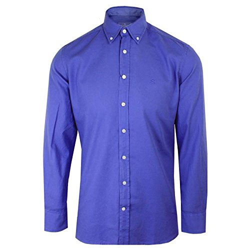 Hackett Camicia da uomo a maniche lunghe Slim Fit Oxford blu Blue Medium
