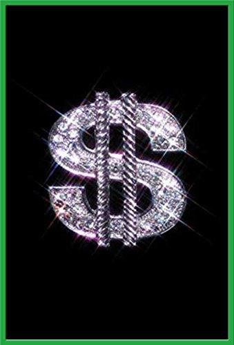 Style - Poster Schmuck Diamant Dollar-Zeichen - Grösse 61x91,5 cm + Wechselrahmen, Shinsuke® Maxi Kunststoff Grün, Acryl-Scheibe ()
