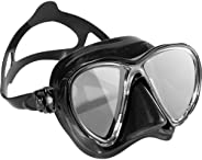 Cressi Big Eyes Evolution HD Mirrored Mask, Black