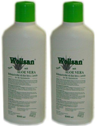 Waschmittel Wollsan mit Aloe Vera 2 Flaschen je 1 Liter -