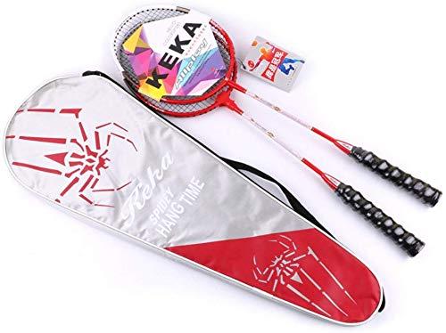 FXDCQC 2 Player Badminton Schläger Set - inkl. 1 Badminton Tasche/2 Schläger