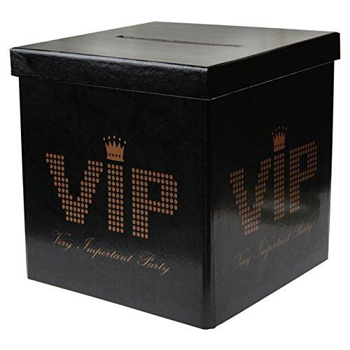 NEU Sammel-Box VIP, 20x20x20 cm, schwarz, 1 Stück (Hollywood Motto Kostüm Kinder)